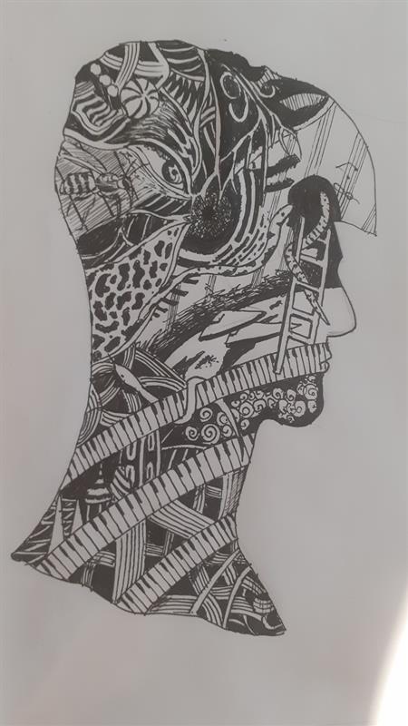 Maxim Cojocari Creative Zentangle silhouette self portrait .jpg