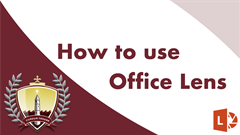 How to use Office Lens